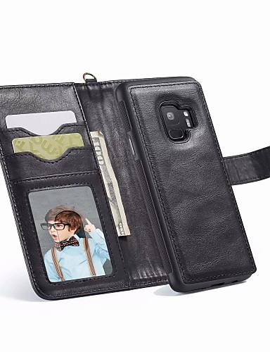 Case สำหรับ Samsung Galaxy S9 / S9 Plus / S8 Plus Wallet / Card Holder / Shockproof ตัวกระเป๋าเต็ม สีพื้น Hard หนัง PU