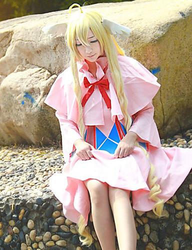 levne Cosplay paruky-Fairy Tail Mavis Cosplay Paruky Pánské Dámské 48 inch Horkuvzdorné vlákno Zlatá Anime