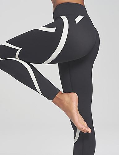 povoljno Odjeća za fitness, trčanje i jogu-Žene Visoki struk Hlače za jogu Moda Trčanje Fitness Biciklizam Hulahopke Odjeća za rekreaciju Puha Butt Lift Power flex Rastezljivo Slim