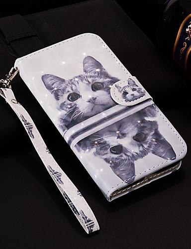 Case สำหรับ โทรศัพท์ Nokia Nokia 6 2018 / Nokia 5 / Nokia 5.1 Wallet / Card Holder / with Stand ตัวกระเป๋าเต็ม Cat Hard หนัง PU