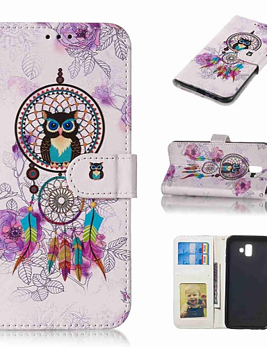 Case สำหรับ Samsung Galaxy J5 (2017) / J3 (2017) / J3 (2016) Wallet / Card Holder / Flip ตัวกระเป๋าเต็ม สัตว์ Hard หนัง PU