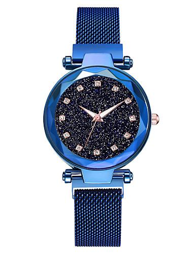 สำหรับผู้หญิง นาฬิกาควอตส์ นาฬิกาอิเล็กทรอนิกส์ (Quartz) รูปแบบชุดเป็นทางการ สไตล์สมัยใหม่ ดำ / ฟ้า / น้ำตาล น่ารัก นาฬิกาใส่ลำลอง เท่ห์ ระบบอนาล็อก ไม่เป็นทางการ แฟชั่น - สีดำ ทับทิม สีม่วง