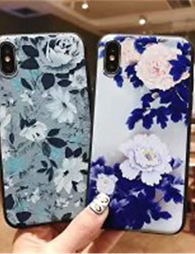 Case สำหรับ Apple iPhone XS / iPhone XR / iPhone XS Max Frosted / Pattern ปกหลัง ดอกไม้ Soft เจลซิลิก้า