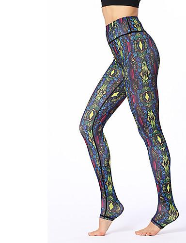 povoljno Vježbanje, fitness i joga-Žene Hlače za jogu 3D ispis Elastan Fitness Trening u teretani Biciklizam Hulahopke Odjeća za rekreaciju Prozračnost Ovlaživanje Quick dry Izzadás-elvezető Rastezljivo Slim