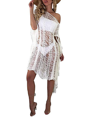 femme basique blanc v tement couvrant maillots de bain. Black Bedroom Furniture Sets. Home Design Ideas