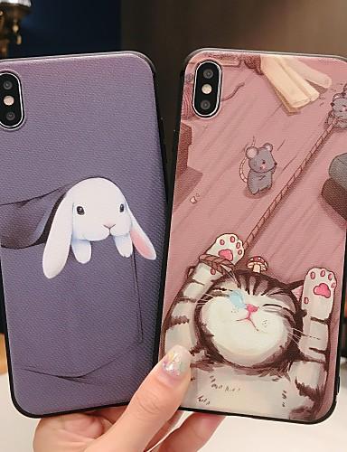 Case สำหรับ Apple iPhone XS / iPhone XR / iPhone XS Max Frosted / Pattern ปกหลัง สัตว์ / การ์ตูน Soft TPU