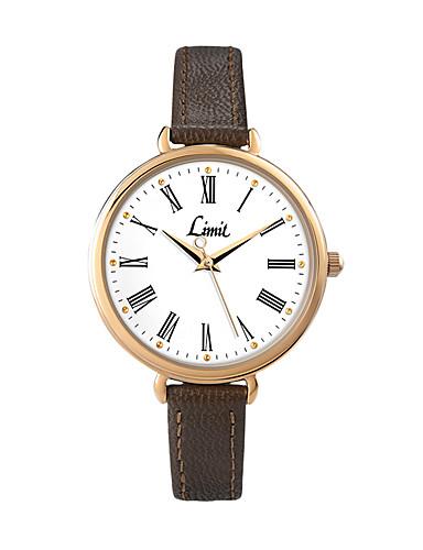 สำหรับผู้หญิง นาฬิกาดิจิตอล ญี่ปุ่น นาฬิกาควอตซ์ญี่ปุ่น สไตล์วินเทจ สไตล์ PU Leather ดำ / น้ำตาล นาฬิกาใส่ลำลอง อะนาล็อก-ดิจิตอล ของโบราณ ที่เรียบง่าย - สีดำ สีน้ำตาล