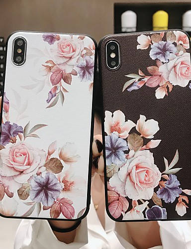 Case สำหรับ Apple iPhone XS / iPhone XR / iPhone XS Max Frosted / Pattern ปกหลัง ดอกไม้ Soft TPU