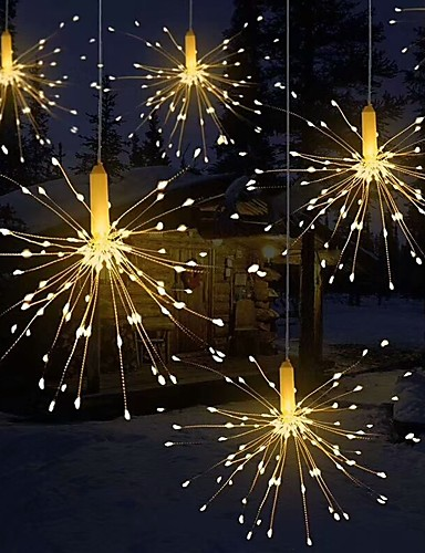 preiswerte Beste Weihnachtsdekoration-faltbare Blumenstraußform des Feuerwerks helles führte dekorative Lichterketten der Schnur für Girlandenpatio-Hochzeitsfestweihnachtslicht