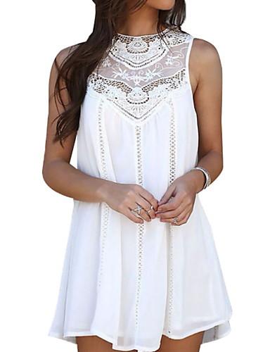preiswerte Sommer-Partykleider-Damen Schlank Chiffon Kleid Mini