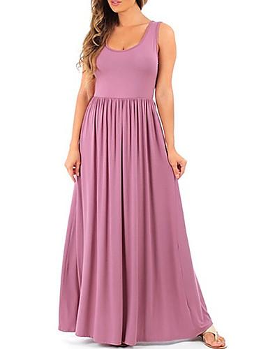 levne Maxi šaty-Dámské Sofistikované Elegantní Pouzdro Šaty - Jednobarevné Maxi