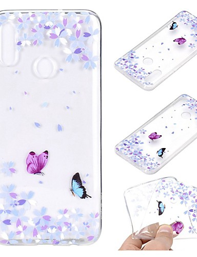 Case สำหรับ Huawei Huawei Nova 3i / หัวเว่ยโนวา 4 / Huawei Note 10 Transparent / Pattern ปกหลัง Butterfly Soft TPU