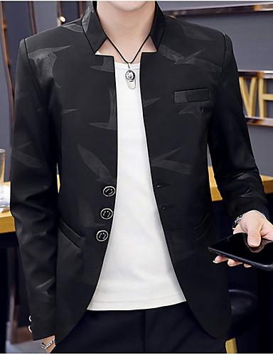 cheap 2020 Trends-Men's Notch lapel collar Blazer White / Black / Navy Blue M / L / XL / Slim