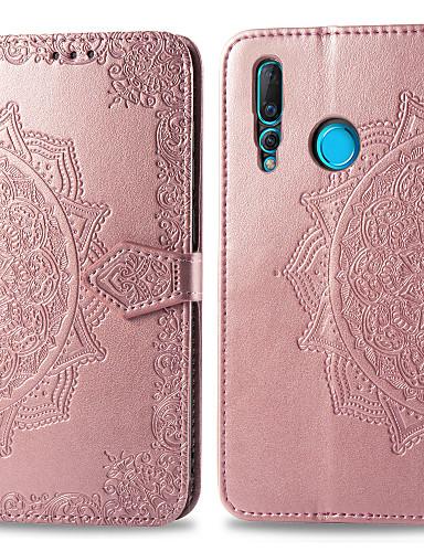 Case สำหรับ Huawei หัวเว่ยโนวา 4 Card Holder / Flip ตัวกระเป๋าเต็ม สีพื้น Hard หนัง PU
