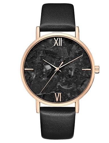 สำหรับผู้หญิง นาฬิกาควอตส์ นาฬิกาอิเล็กทรอนิกส์ (Quartz) PU Leather ดำ / ฟ้า / เทา โครโนกราฟ น่ารัก นาฬิกาใส่ลำลอง ระบบอนาล็อก สง่างาม ที่เรียบง่าย - Peach สีดำ+สีขาว ทองกุหลาบ / หนึ่งปี