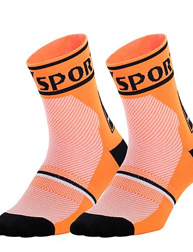 cheap Cycling-Men's Women's Athletic Sports Socks Running Socks Cycling Socks Compression Compression Socks Breathable Comfortable White Black Fuchsia Winter Road Bike Fitness Mountain Bike MTB Stretchy
