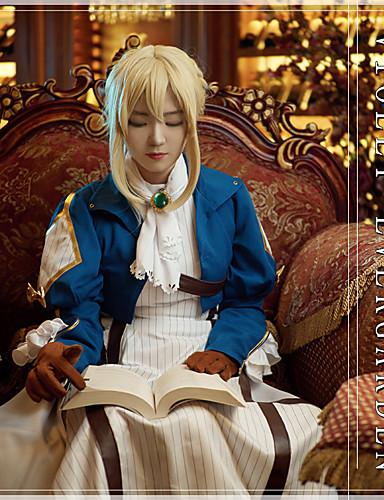 povoljno Maske i kostimi-Inspirirana Violet Evergarden Violet Evergarden / Cookie Anime Anime Cosplay nošnje Japanski Cosplay Suits Anime Dugih rukava Kravata / Kaput / Haljina Za Uniseks / Rukavice