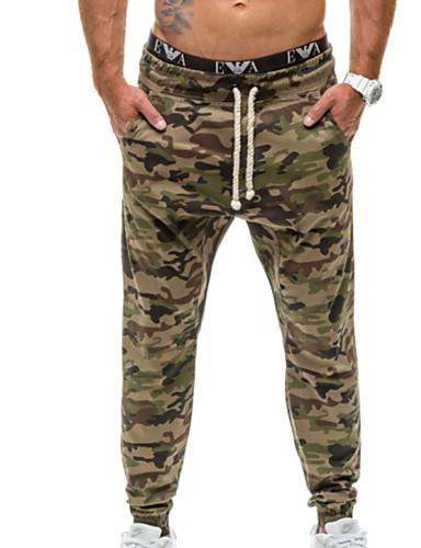สำหรับผู้ชาย พื้นฐาน เพรียวบาง กางเกง Chinos กางเกง - ลายพิมพ์ สีฟ้า อาร์มี่ กรีน L XL XXL