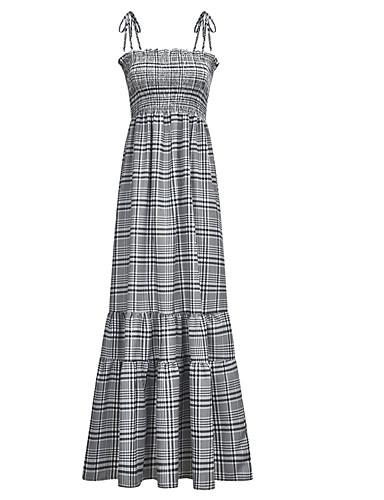 levne Maxi šaty-Dámské Základní Shift Pouzdro Šaty - Geometrický Maxi