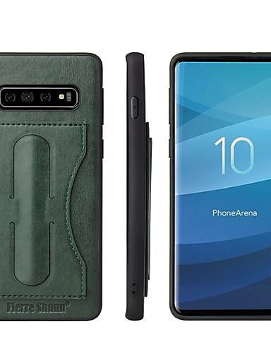 Case สำหรับ Samsung Galaxy S9 / S9 Plus / S8 Plus Card Holder / with Stand ปกหลัง สีพื้น Hard หนัง PU