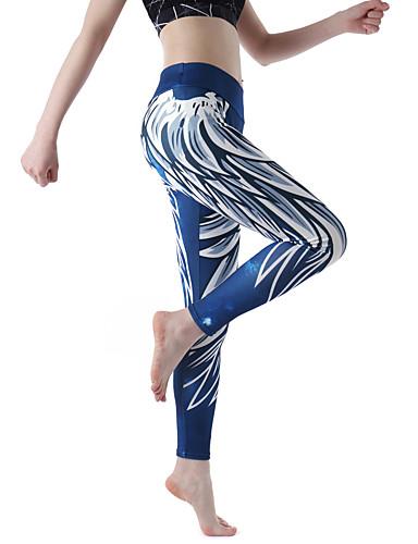 povoljno Odjeća za fitness, trčanje i jogu-Žene Visoki struk Hlače za jogu Moda Trčanje Fitness Trening u teretani Biciklizam Hulahopke Tajice Odjeća za rekreaciju Prozračnost Rastezljivo Uske