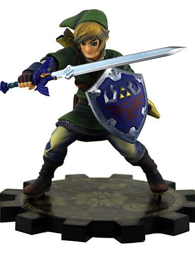 povoljno Anime cosplay-Anime Akcijske figure Inspirirana The Legend of Zelda Link PVC 21 cm CM Model Igračke Doll igračkama Uniseks