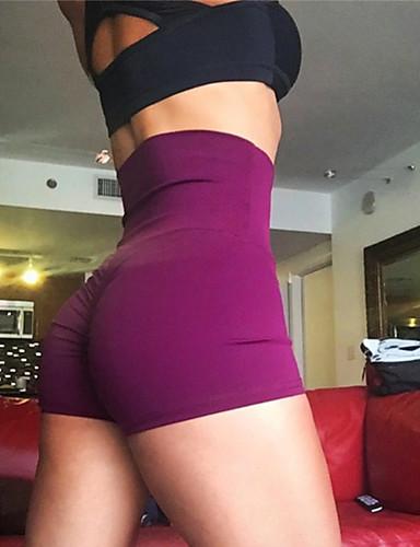 povoljno Vježbanje, fitness i joga-Žene Kratke Hlače za jogu Jedna barva Trčanje Fitness Kratke hlače Odjeća za rekreaciju Puha Butt Lift Rastezljivo Slim