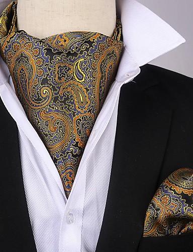 זול עניבות ועניבות פרפר לגברים-עניבה ואסקוט - דפוס / פייסלי / סרוג מסיבה / חסין רוח בגדי ריקוד גברים
