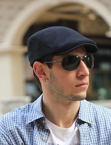 cheap Men's Hats-Unisex 1930s Cotton Linen Floppy Hat-Solid Colored All Seasons Dark Gray Navy Blue Light gray