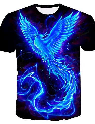 voordelige Uitverkoop-Heren Grote maten - T-shirt Kleurenblok Ronde hals Marineblauw / Korte mouw