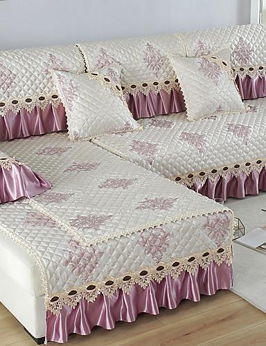billige Tekstil til hjemmet-Sofa Pute Romantik / Klassisk / Moderne Mønstret / Mønsterpreget / Kviltet Bomull / Polyester / bomullsblanding slipcovere