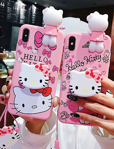 7 99 Case For Apple Iphone Xs Iphone Xr Iphone Xs Max With Stand Back Cover Cartoon Soft Silicone