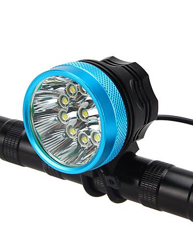 preiswerte Fahrradlichter & Reflektoren-LED Radlichter Fahrradlicht Taschenlampe LED Bergradfahren Fahhrad Radsport Wasserfest Super hell Tragbar Einfach zu installieren Wiederaufladbarer Akku 18650 7600 lm Aufladbare Batterien 110-240V