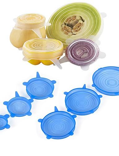 preiswerte BUY3GET20%OFF-MixBuy-6pcs Food Wraps wiederverwendbare Silikon-Lebensmittel frisch halten versiegelt deckt Vakuum Stretch Deckel Saran Wraps Organisation