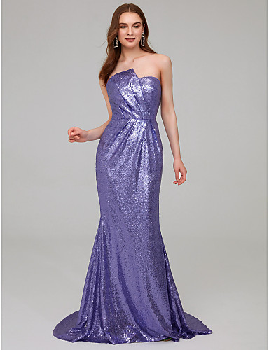 7aea8cac123 Emilia Clarke Mermaid   Trumpet Strapless Sweep   Brush Train Sequined  Celebrity Style Formal Evening Dress with Sequin   Ruched by TS Couture®  7142072 2019 ...