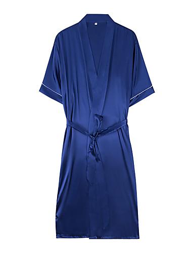 levne Pánské prádlo a plavky-Pánské Šálové klopy Kostýmy Pyžama Jednobarevné