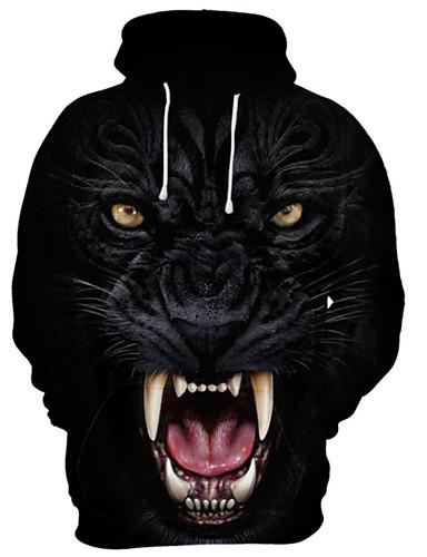 cheap Men's Hoodies & Sweatshirts-Men's Hoodie 3D Cartoon Skull Hooded Casual Basic Hoodies Sweatshirts  Black