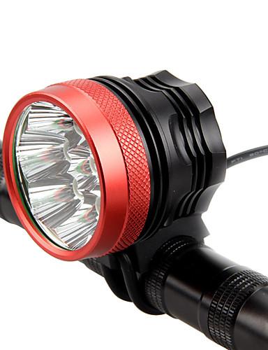 billige Sykling-LED Sykkellykter Frontlys til sykkel Lommelykt LED Fjellsykling Sykkel Sykling Vanntett Super Bright Bærbar Enkel å installere Oppladbart Batteri 18650 4800 lm Oppladsbare batterier 110-240V 18650