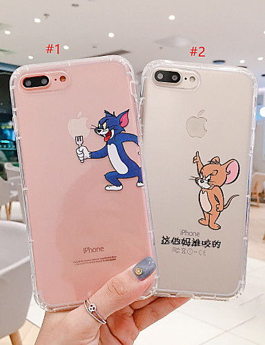 6 99 Case For Apple Iphone Xs Iphone Xr Iphone Xs Max Transparent Pattern Back Cover Playing With Apple Logo Cartoon Soft Tpu