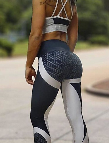 povoljno Vježbanje, fitness i joga-Žene Hlače za jogu Cvijetni print Trčanje Fitness Biciklizam Hulahopke Odjeća za rekreaciju Ovlaživanje Rastezljivo Uske