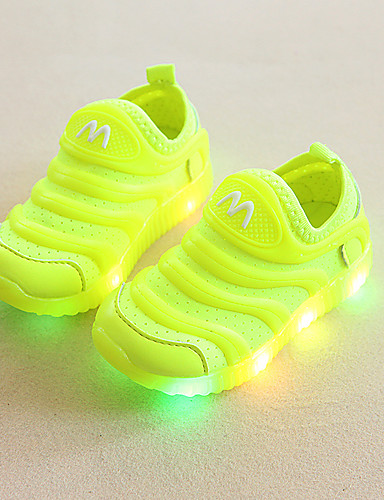 cheap Kid's Led Shoes Hot Sale-Boys' LED / LED Shoes Elastic Fabric Sneakers Toddler(9m-4ys) / Little Kids(4-7ys) Running Shoes / Walking Shoes Luminous White / Black / Red Summer / Rubber