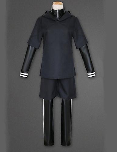 povoljno Anime cosplay-Inspirirana Tokio Ghoul Ken Kaneki Anime Cosplay nošnje Japanski Cosplay Suits Jednobojni Dugih rukava Kaput / Top / Hlače Za Muškarci