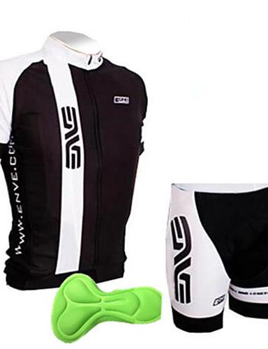 povoljno Biciklizam-Dječaci Djevojčice Kratkih rukava Biciklistička majica s kratkim hlačama - Dječji Crno bijela  / Crna / Green Bicikl Sportska odijela Prozračnost Pad 3D Ovlaživanje Quick dry Sportski Slovo Brdski