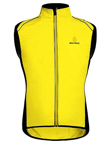povoljno Odjeća za vožnju biciklom-WOSAWE Muškarci Bez rukávů Biciklistički prsluk žuta Zelen Crna / žuta Bicikl Mellény Vjetronepropusnost Prozračnost Reflektirajuće trake Povratak džep Sportski Mrežica Kolaž Brdski biciklizam