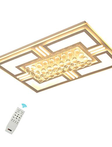 preiswerte AutumnSaleBrandsArea-LED Kristall Deckenleuchten / moderne Unterputz Rechteckrahmen für Schlafzimmer Wohnzimmer warmweiß / weiß / dimmbar mit Fernbedienung