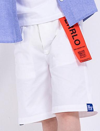 preiswerte Sommerurlaub Hot Sale-Kinder Jungen Grundlegend Solide Baumwolle Shorts Weiß