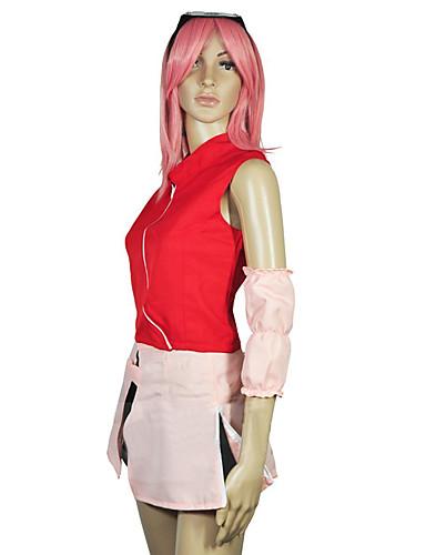 povoljno Maske i kostimi-Inspirirana Naruto Sakura Anime Cosplay nošnje Japanski Cosplay Suits / Kostim Za Žene