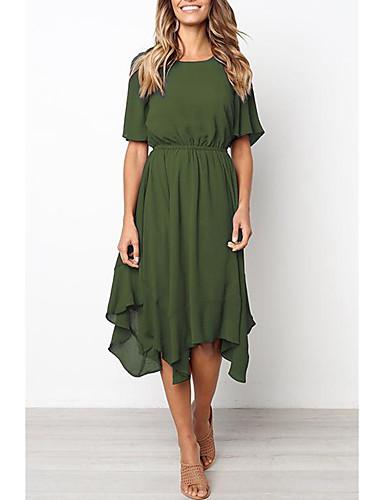 [$17 99] mulheres midi vestido de balanço vinho exército verde preto m m l  xl
