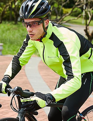 Mens Cycling Waterproof Jacket Thermal Windproof Mountain Bike Fleece