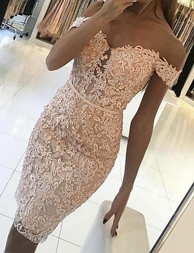 Жен. Классический Облегающий силуэт Оболочка Платье - Геометрический принт До колена